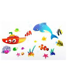 Little Nests DIY Underwater Theme Wall Decals - Multicolor