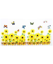 Little Nests DIY Sunflower Bed Wall Decals - Yellow