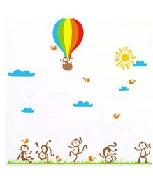Little Nests DIY Dancing Monkeys Wall Decals - Multicolor