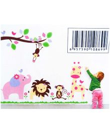 Little Nests DIY Animal Safari Wall Decals - Multicolor