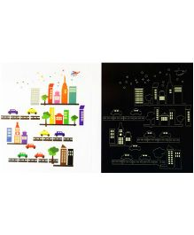 Little Nests DIY Luminous City Wall Decals - Multicolor