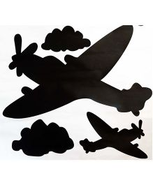 Little Nests DIY Aeroplane Wall Decals - Black