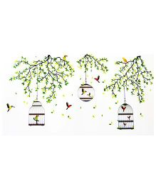 Little Nests DIY Birds And Branches Wall Decals - Multicolor