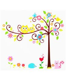 Little Nests DIY Family Tree Wall Decals - Multicolor