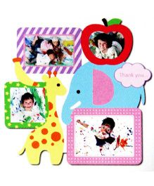 Little Nests DIY Photo Frames Nursery Design Multicolor - 4 Pieces