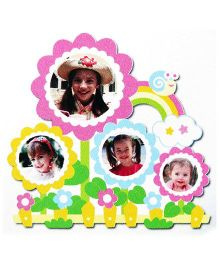 Little Nests DIY Photo Frames Rainbow And Flowers Design Multicolor - 4 Pieces