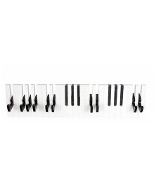 Little Nests Plastic Piano Theme Hooks - Black White