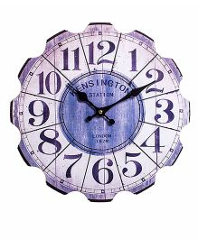 Little Nests Retro Clock - Blue
