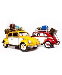 Little  Nests Retro Taxi Miniatures - Yellow And Red