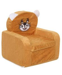 Lovely Smart Kids Cat Print Sofa - Brown