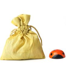 Caravan Evolved Craft Ladybug Fridge Magnet - Orange