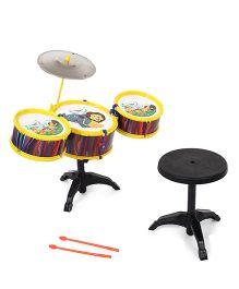 Lovely Drum Set Lion & Elephant Print - Yellow