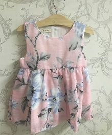 Piperz Floral Print Casual Dress - Pink