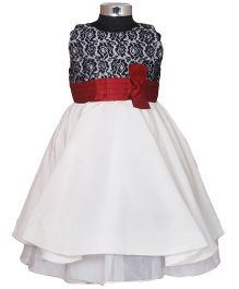 Darlee & Dache Sleeveless Party Dress Bow Design - White