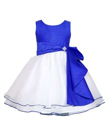 Darlee & Dache Knee Length Party Dress - White And Blue