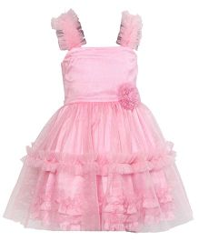 Darlee & Dache Party Wear Dress Floral Design - Pink