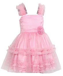 Darlee & Dache Party Wear Dress Floral Design - Pink