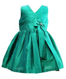 Darlee & Dache Sleeveless Party Dress Bow Design - Green