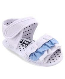 Cute Walk by Babyhug Sandals Style Booties - White Blue