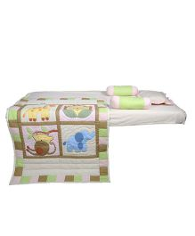 Blooming Buds Jungle Friends 5 Piece Cot Set - Beige