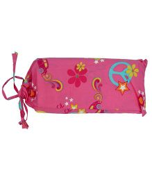 Blooming Buds Peace Print Dohar With Bag - Pink
