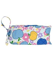 Blooming Buds Apple Print Dohar With Bag - Multicolour