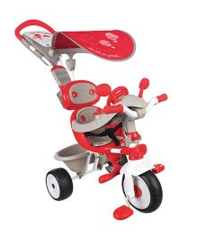 Smoby Baby Driver Comfort Tricycle - Grey And Red