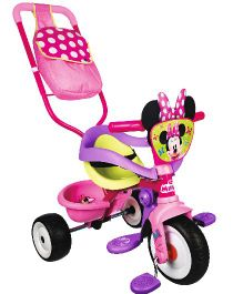 Smoby Minnie Be Move Tricycle With Parental Handle - Pink and Purple