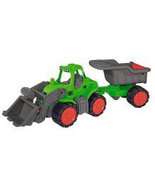 Big Toy Worker Tractor Dumper - Green