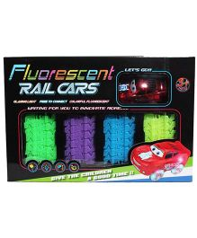 Saffire Fluorescent Track Set With Car - Multi Color