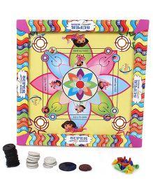 Lovely Carrom Board Mini With Ludo - Multicolor