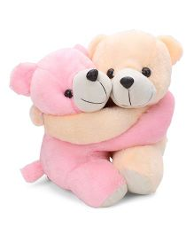 Liviya Love Pair Teddy Bear Soft Toy Pink And Cream - 34 cm