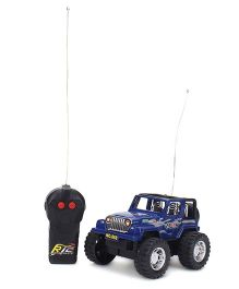 Classic Blue Remote Controlled 2 Function Hummer Jeep - Blue