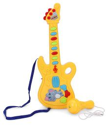 Classic Musical Guitar With Mike And Light - Yellow