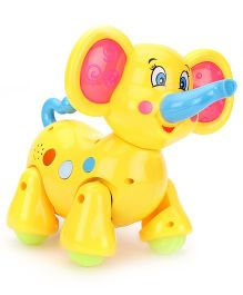 Classic Walking Elephant With Music And Light - Yellow