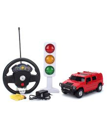 Classic Remote Control Car With Charger And Traffic Light - Red