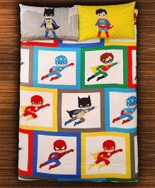 Paper Rockets Super Heroes Bed Sheet - Multicolor