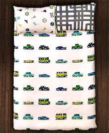 Paper Rockets Transport Bed Sheet - Multicolor