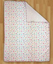 Paper Rockets Cupcake Infant Coverlet - Multicolor