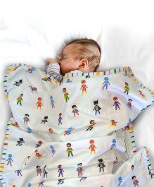 Paper Rockets Super Heroes Infant Coverlet - Multicolor