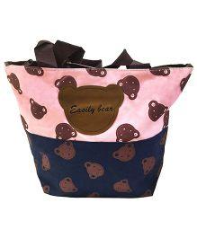 EZ Life Kids Carry Bag Bears Big - Blue & Light Pink