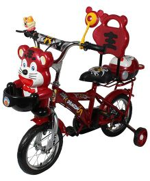 HLX NMC Happy Tiger Kids Bicycle Red Grey - 12 Inches