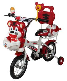 HLX NMC Happy Tiger Kids Bicycle Red White - 12 Inches