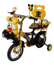 HLX NMC Happy Tiger Kids Bicycle Yellow Black - 12 Inches