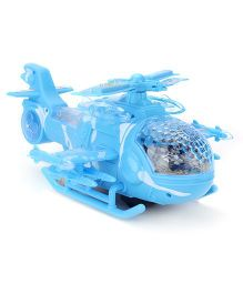 Battery Operated 2 In 1 Helicopter With Light And Music - Blue