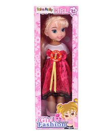 Musical Doll White Dark Pink - 39 cm