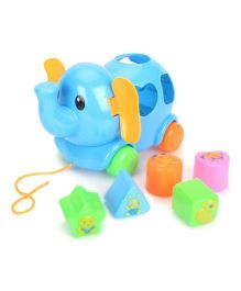 Pull Along Elephant Toy - Blue