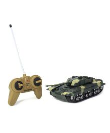 Remote Controlled Battle Tank - Green Black