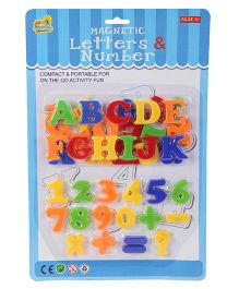 Magnetic Letters And Numbers - Multicolour