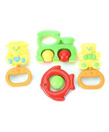 Baby Rattle Gift Set Multicolor - Pack Of 4